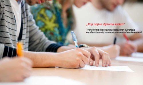 Obţine astăzi certificatul de calificare, fară curs, DOAR TESTARE!
